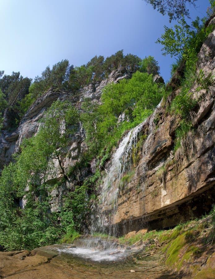 Kuperlya waterfall royalty free stock images