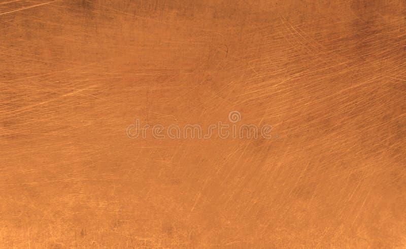 Kupfer-Metallplatte kratzte konzeptionelle Textur Hintergrund 65 stockfotografie