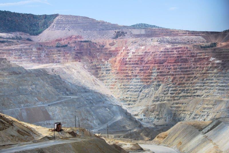 Kupfermine stockbild