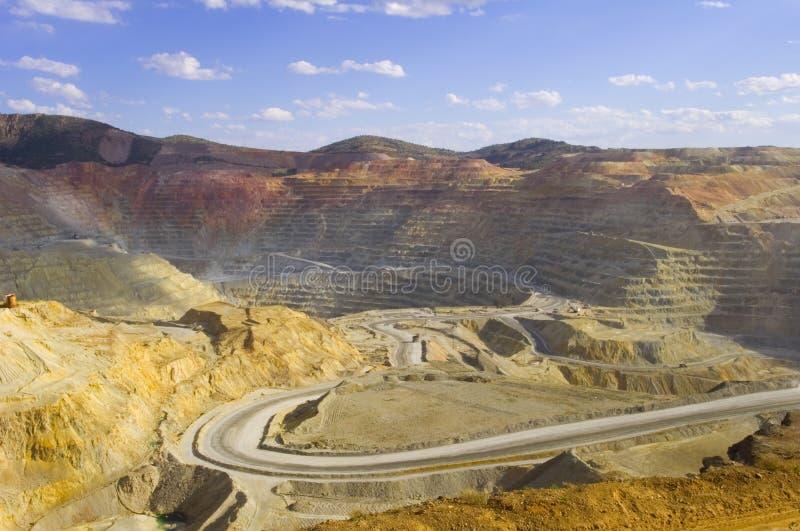 Kupfermine lizenzfreie stockfotos