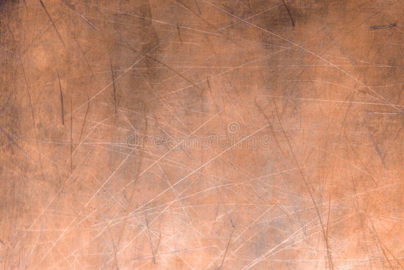 Kupferne Beschaffenheit oder Bronze, rustikale Metalloberfläche stockfoto