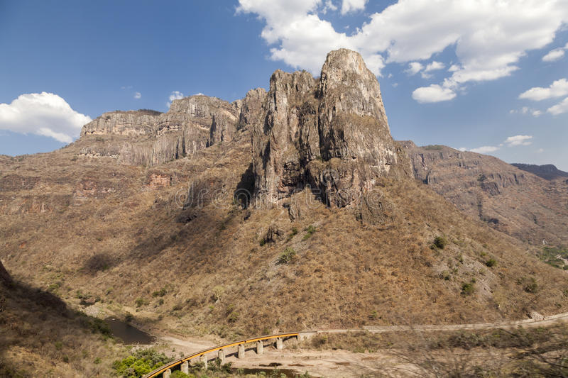 Kupferne Canyon Road lizenzfreie stockfotos