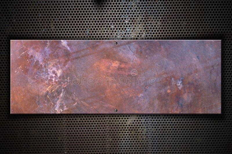 Kupferne Metallplatte stock abbildung