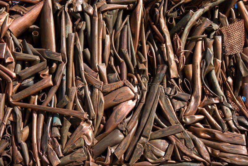 Kupferne Rohre lizenzfreies stockfoto
