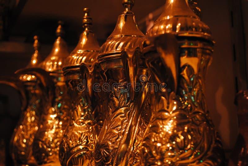 Kupferne Teekanne stockfotos