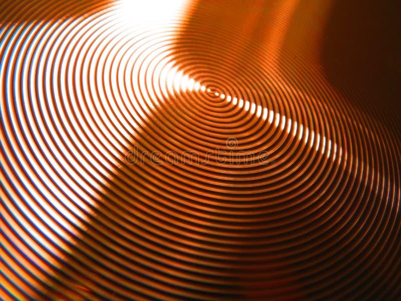 Kupferner BronzeSchwindel kreist Nutringe ein stockbild