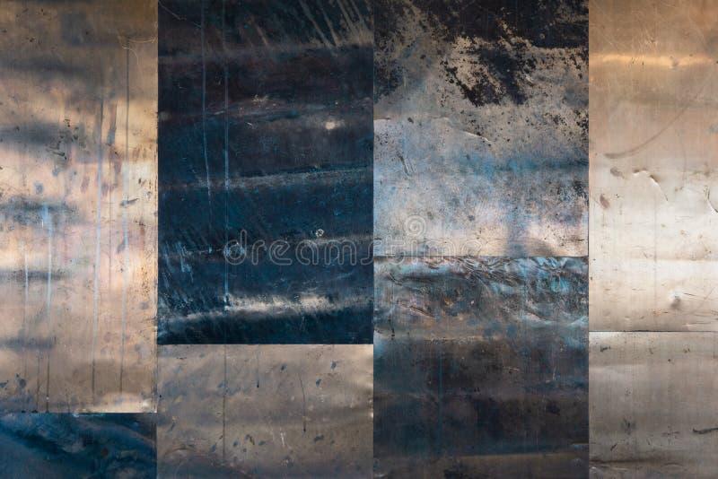 Kupferner oder Bronze- oder Golddunkler alter Hintergrund lizenzfreies stockbild