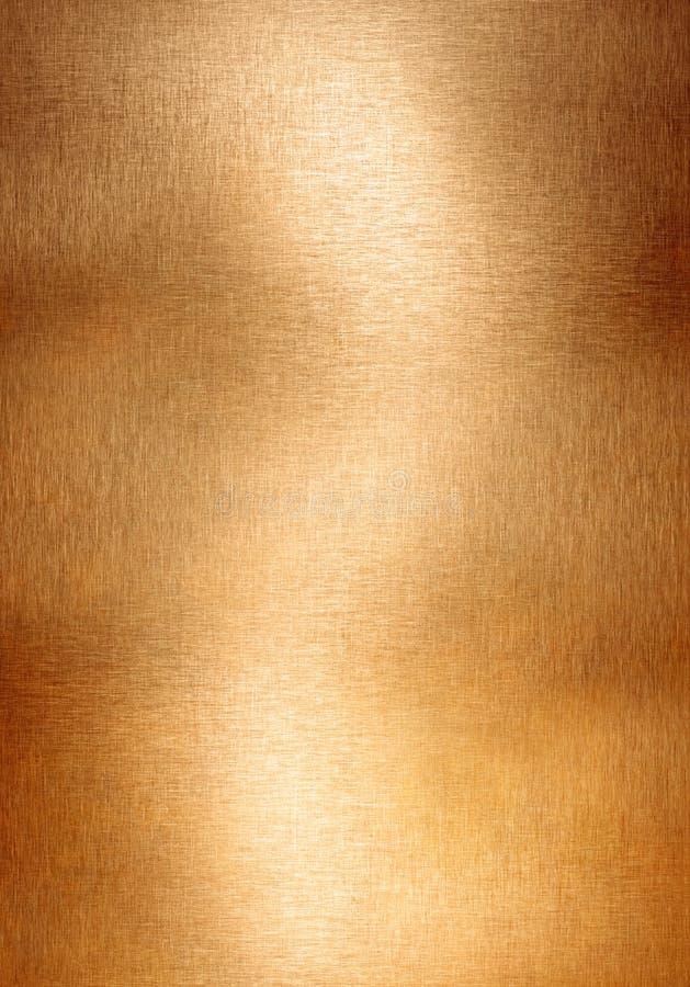 Kupferner oder Bronzemetallhintergrund stockbild