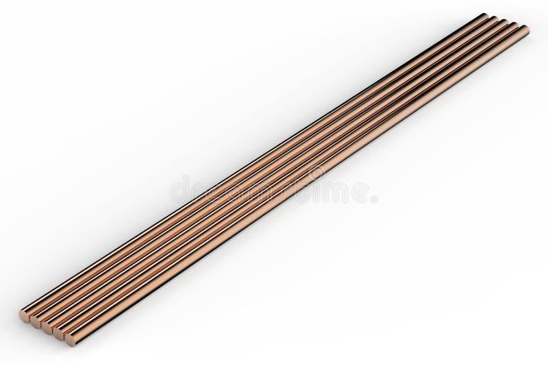 Kupferrohre lizenzfreie stockbilder