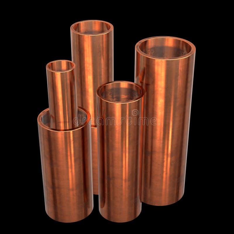 Kupferrohre oder Rohre stock abbildung