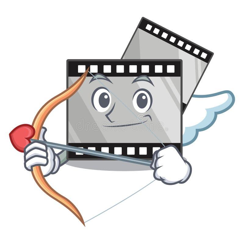Kupidonfilmstirep som isoleras i maskot stock illustrationer