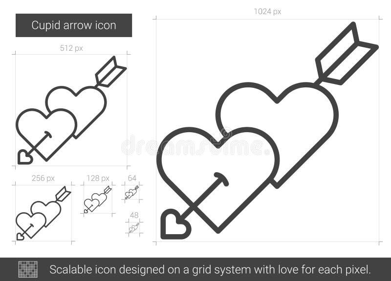 Kupidonpillinje symbol stock illustrationer