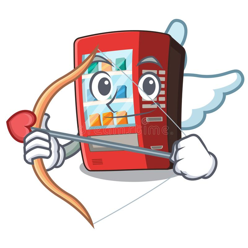 Kupidonvaruautomat i tecknad filmformen vektor illustrationer