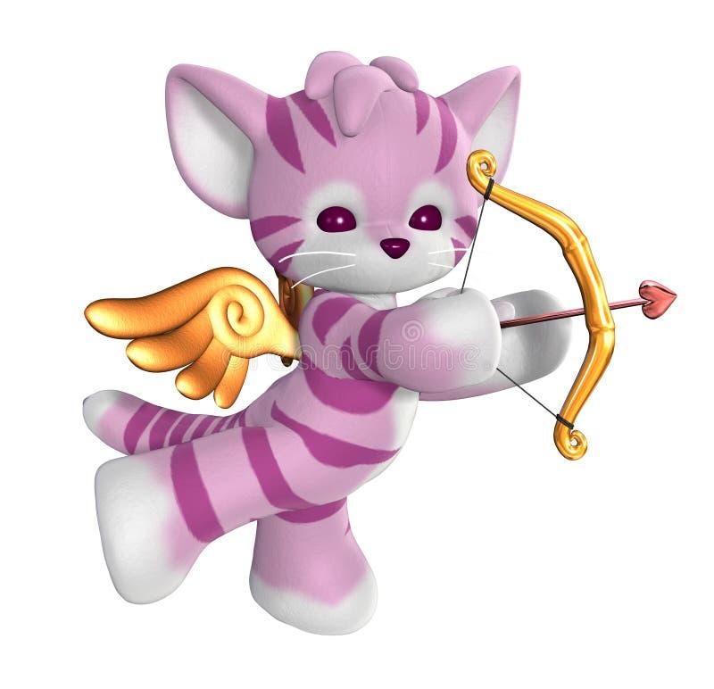 kupidyn kitty royalty ilustracja