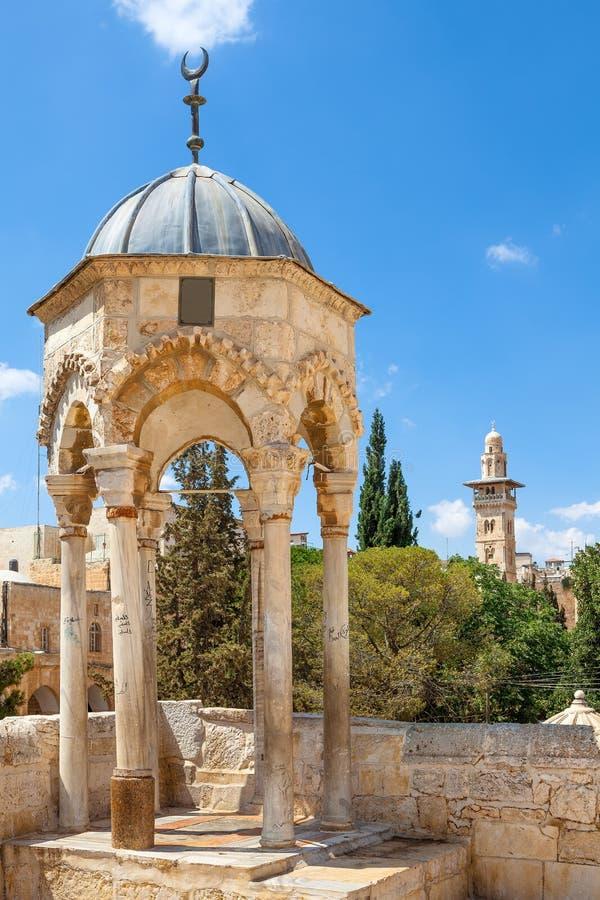 Kupol av al-Khidr på tempelmonteringen, Jerusalem. arkivfoton