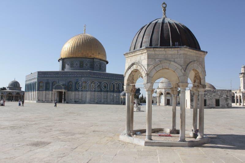 Kupol av andar i tempelmonteringen i Jerusalem royaltyfria foton