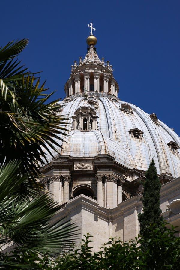 Kupol av basilikan f?r St Peter ` s royaltyfri bild