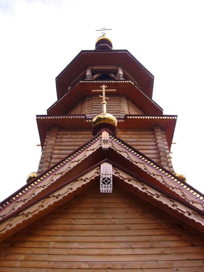 Kupol av den ortodoxa kyrkan med en arkitektonisk struktur för traditionell arg klosterbroder fotografering för bildbyråer