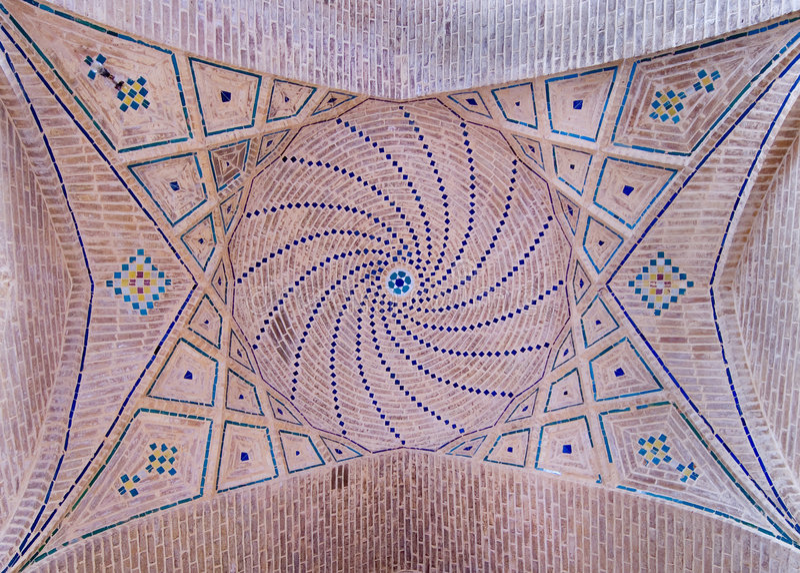 Kupol av en forntida moské arkivbilder