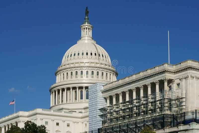 Kupol av Förenta staterna Kapitolium, hem av Förenta staternakongressen och plats av den lagstiftnings- filialen av U S federal r arkivbilder