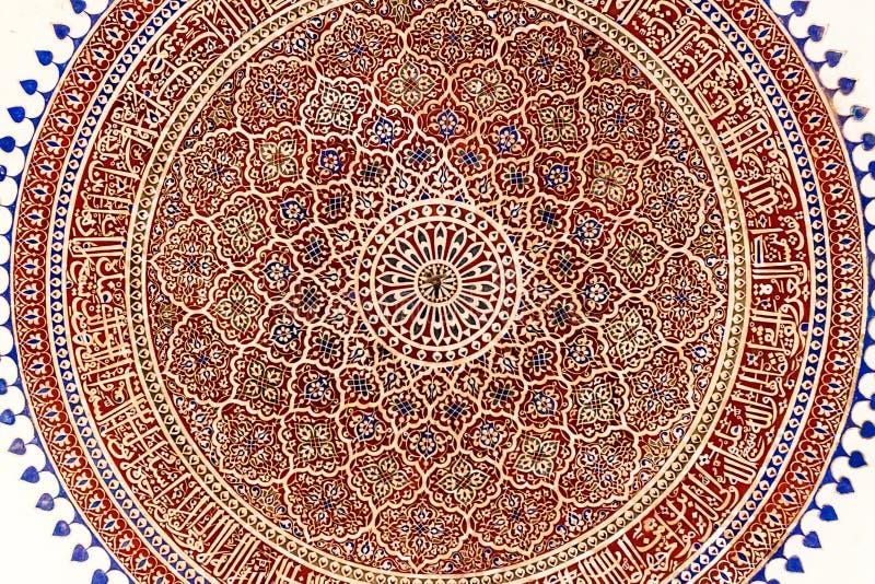 Kupol av Isa Khan Niyazi Tomb i det Humayun Tomb komplexet i Delhi, Ind arkivbild