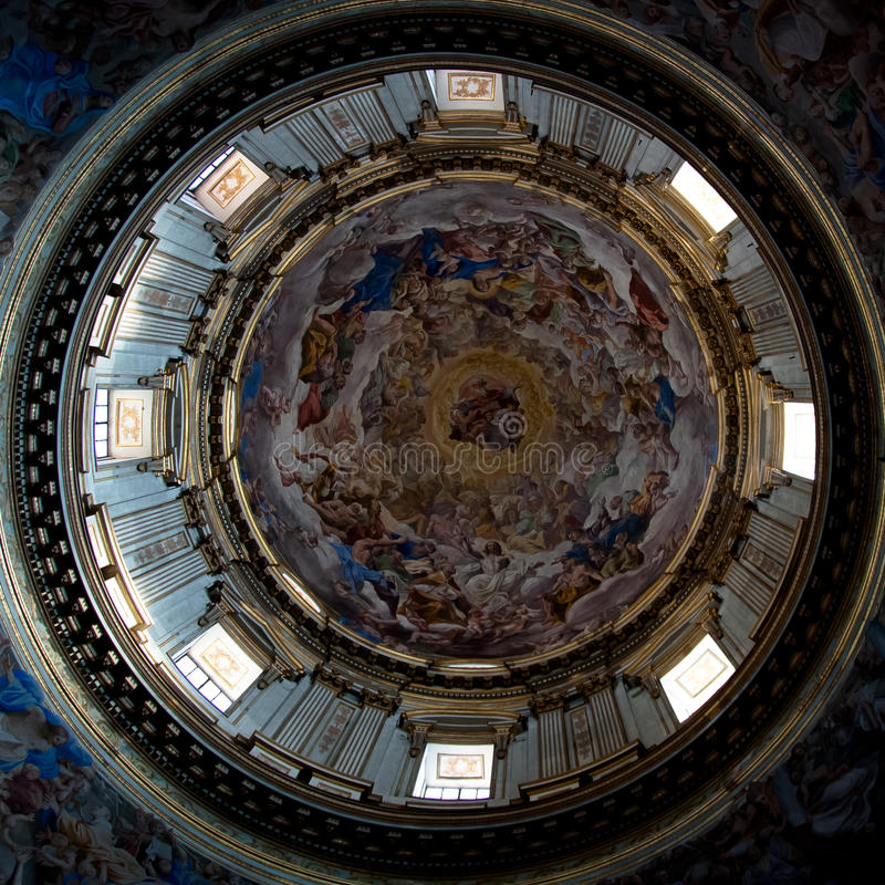 Kupol av kapell av San Gennaro fotografering för bildbyråer