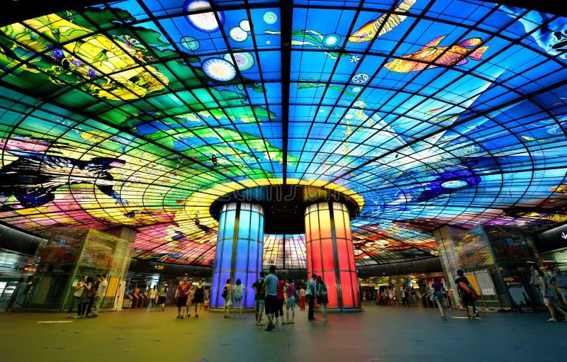 Kupol av ljus, Kaohsiung fotografering för bildbyråer