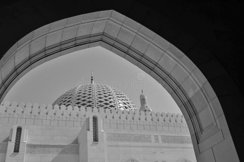 Kupol av moskén, Oman royaltyfri fotografi