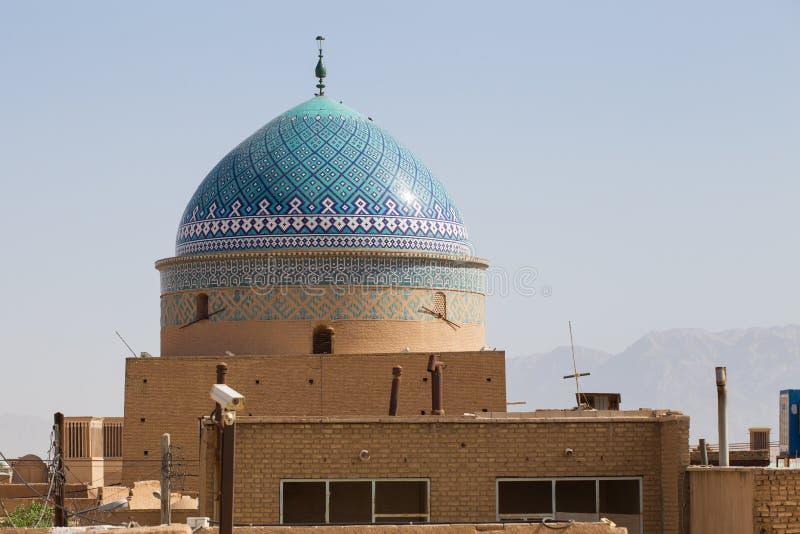 kupol för buller Rokn-od i Yazd arkivbilder