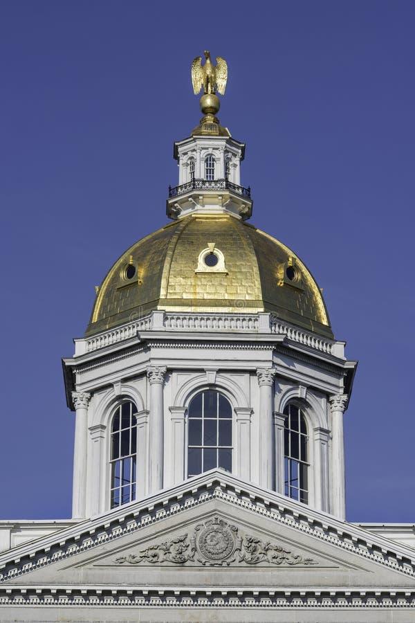 Kupol för New Hampshire tillståndshus royaltyfria bilder