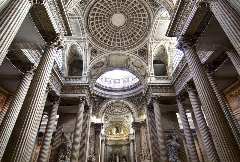 kupol inom pantheon royaltyfri fotografi