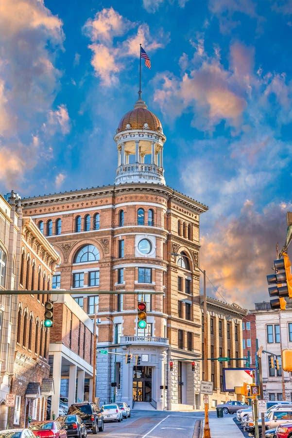 Kupolbyggnad i i stadens centrum Chattanooga Tennessee TN royaltyfria bilder