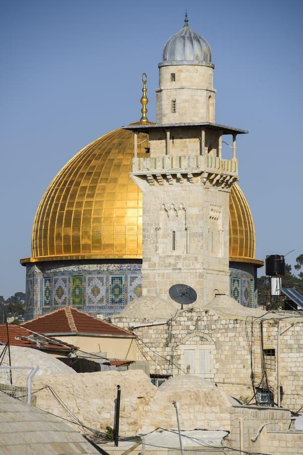 Kupolen av vagga och moskén, jerusalem, Israel arkivbild