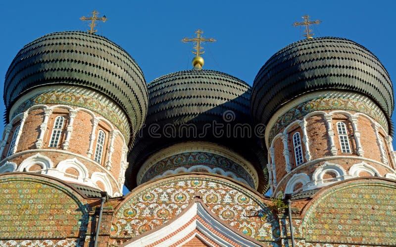 Kupoler av byggnaden i Moskva royaltyfria foton