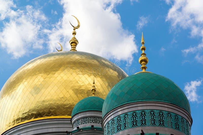 Kupoler av domkyrkamoskén i Moskva Ryssland royaltyfri fotografi