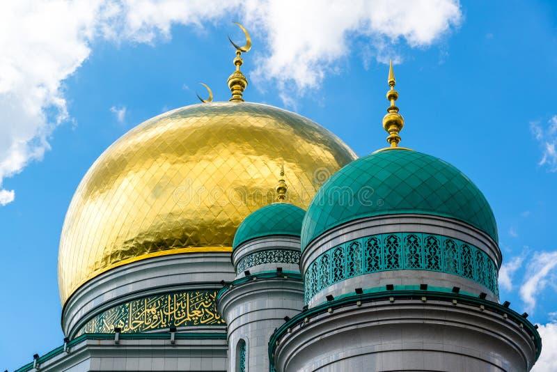 Kupoler av domkyrkamoskén i Moskva Ryssland royaltyfria foton