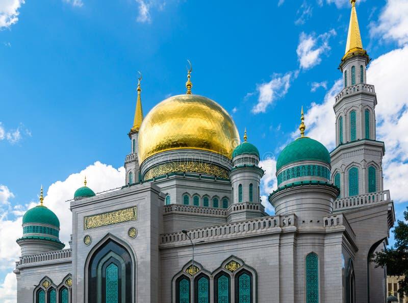 Kupoler av domkyrkamoskén i Moskva Ryssland arkivbild
