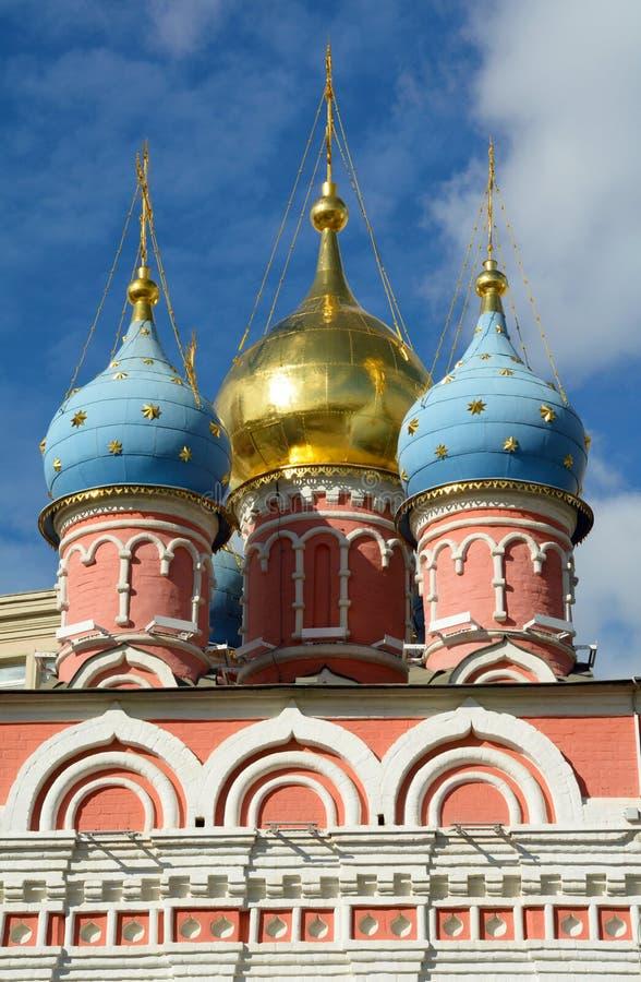 Kupoler av kyrkan i Kreml royaltyfri foto