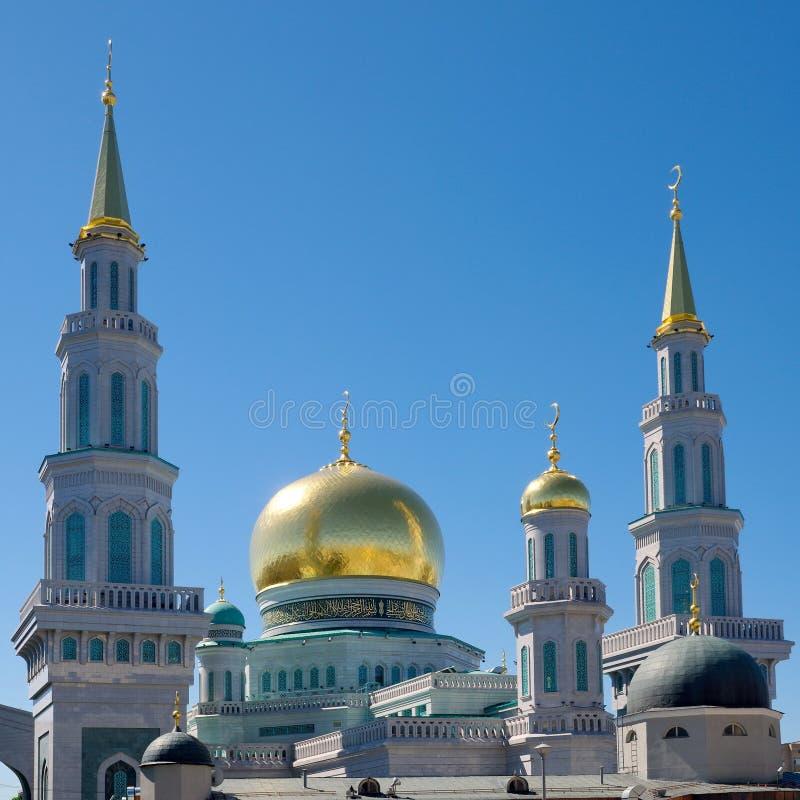 Kupoler av Moskvadomkyrkamoskén i Moskva, Ryssland arkivbild