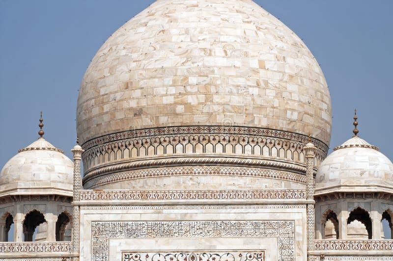 Kupoler av Taj Mahal, Agra, Indien fotografering för bildbyråer