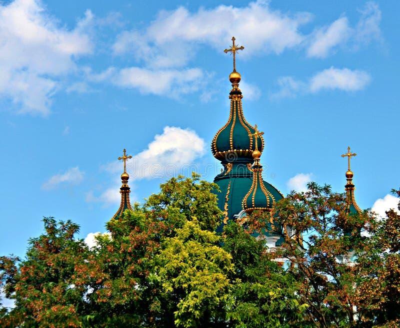 Kupoler och himmel royaltyfria foton