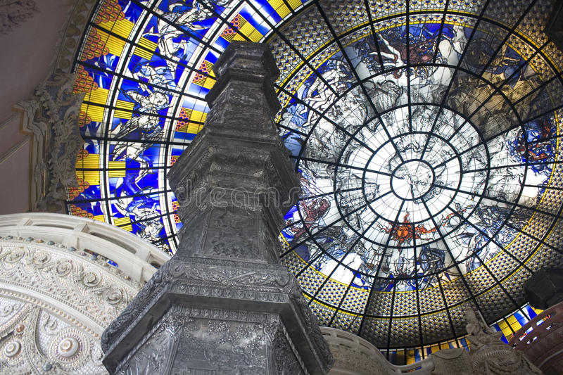 kupolexponeringsglastillstånd arkivfoto