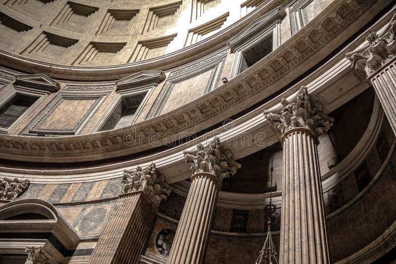 kupolpantheon rome arkivbilder