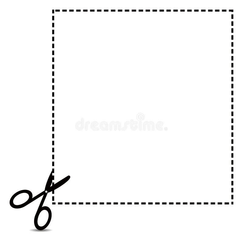 Kupon-Ausschnitts-Entwurf lizenzfreie abbildung