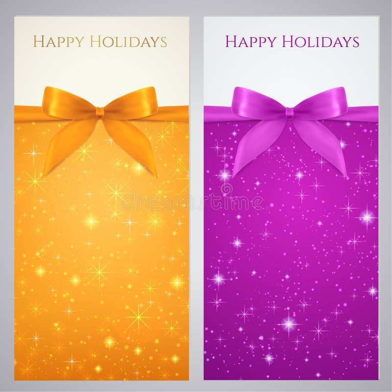 Kupon, Beleg, Geschenkgutschein, Geschenkkarte. Stern lizenzfreie abbildung