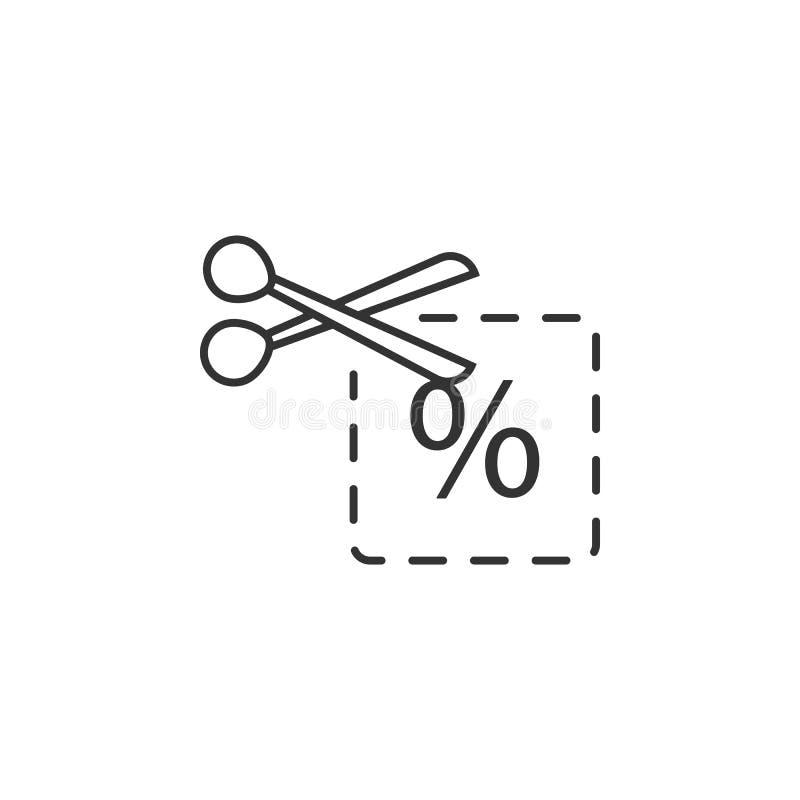 Kupon, Rabatt, Preislage Ikone Einfache, moderne flache Vektorillustration für bewegliche APP-, Website- oder Desktop-APP vektor abbildung