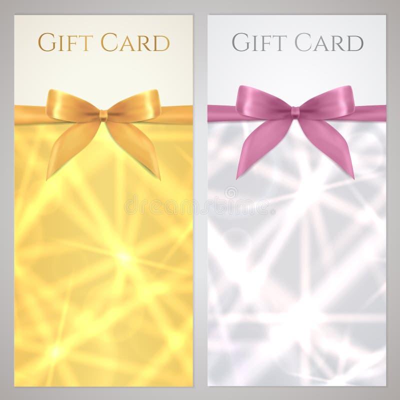 Kupong kupong, presentkort, gåvakort. Stjärna vektor illustrationer