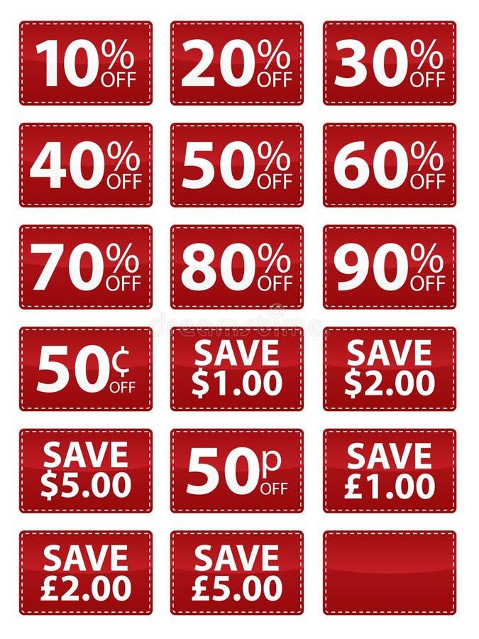 kupongeps-försäljning royaltyfri illustrationer