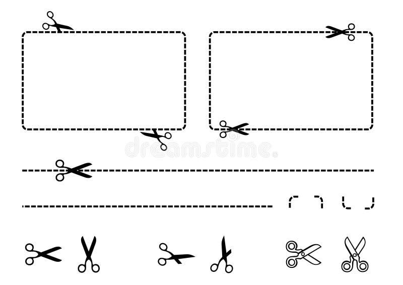 Kuponggränsuppsättning royaltyfri illustrationer