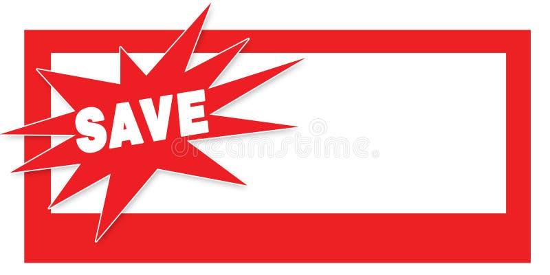 kupongreklambladförsäljningen sparar vektor illustrationer